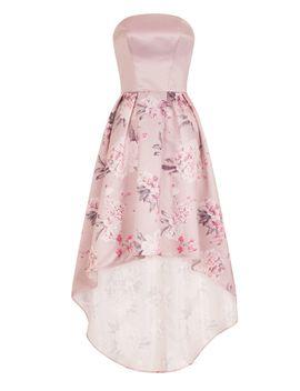 Floral Print Dip Hem Dress by Chi Chi London