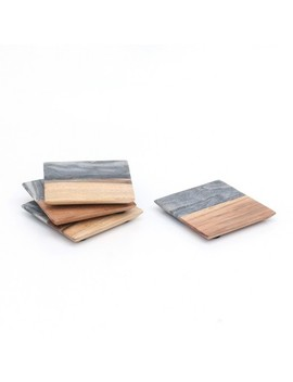 Marble And Wood Coasters   4pk   Threshold™ by Threshold™