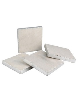 Thirstystone Marble Coasters Set Of 4   Silver by Thirstystone
