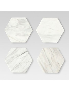 Marble Stackable Coasters White   Set Of 4   Threshold™ by Threshold™