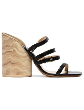 Black 105 Leather Sandals by Jacquemus