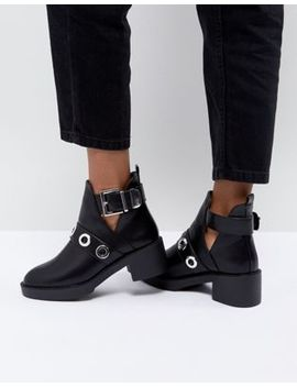 Pimkie Cut Out Heeled Ankle Boots by Pimkie