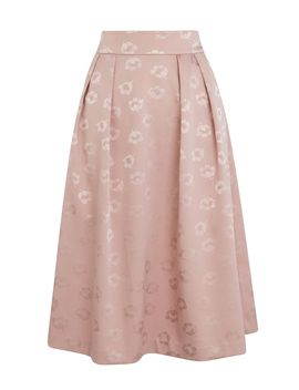 Jacquard Midi Skirt by Oasis