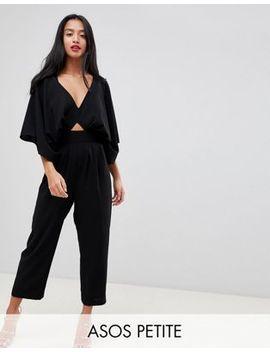 Asos Design Petite Jumpsuit With Kimono Sleeve And Peg Leg by Asos Design