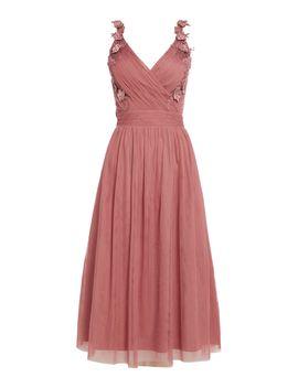Strappy Lace Midi Dress by Little Mistress