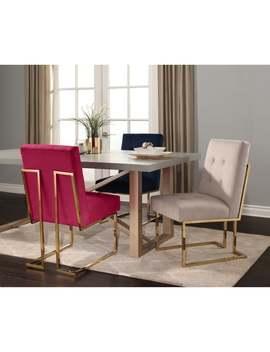 Abbyson Fraser Gold Stainless Steel Velvet Dining Chair by Abbyson