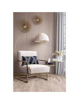 Elle Beige Linen Accent Chair by Generic