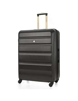 "Aerolite Large 29"" Super Lightweight Abs Hard Shell Travel Hold Check In Luggage Suitcase With 4 Wheels (Large, Golden Charcoal) by Aerolite"