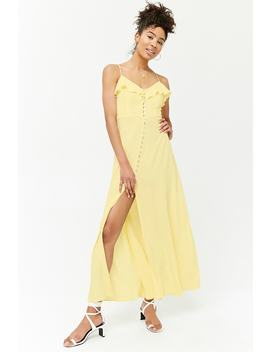 Cami Button Front Maxi Dress by Forever 21