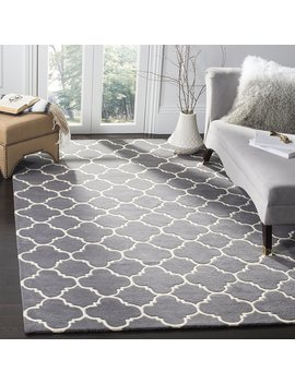 Safavieh Chatham Collection Cht717 D Handmade Dark Grey And Ivory Premium Wool Area Rug (10' X 14') by Safavieh