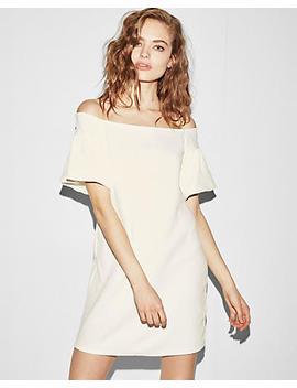 Jacquard Off The Shoulder Shift Dress by Express