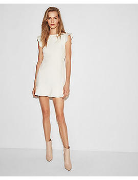 Ruffle Sleeve Fit And Flare Dress by Express
