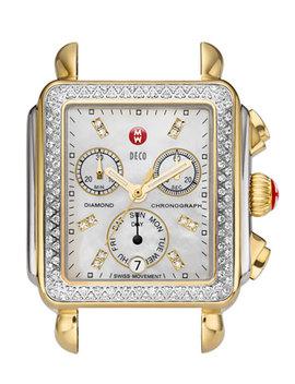 18mm Deco Diamond Watch Head, Two Tone by Michele
