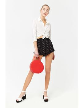 Ruffled Polka Dot Shorts by Forever 21