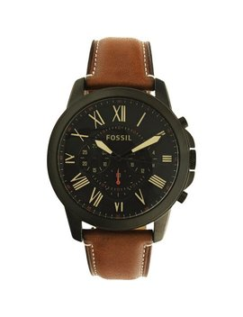 Fossil Men's Grant Fs5241 Brown Leather Quartz Fashion Watch by Fossil