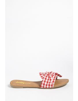 Yoki Shoes Gingham Slides by Forever 21