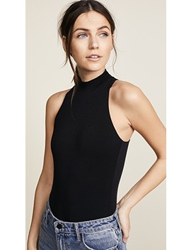 Mock Neck Tank Bodysuit by Enza Costa