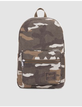 Pop Quiz Cotton Canvas Backpack In Canvas Cub Camo by Need Supply Co.