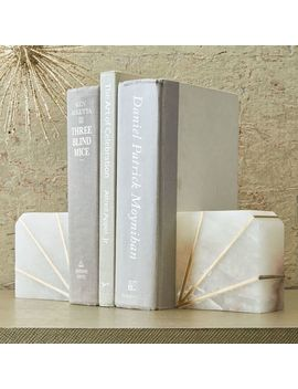 Stone Bookend, Alabaster, Set Of 2 by West Elm