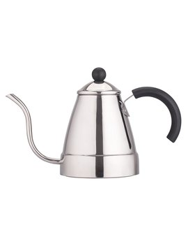 Zell Stainless Steel Tea Coffee Kettle, Gooseneck Thin Spout For Pour Over Coffee, Works On Gas, Electric, Induction Stovetop For Fast Water Heating | 47 Oz (1400 Ml) by Zell