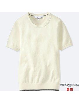 Women Idlf Cotton Cashmere Crewneck Sweater by Uniqlo