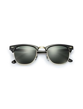 Ray Ban Sunglasses Clubmaster 3016 (49 Mm, Crystal Green Lens) by Ray Ban