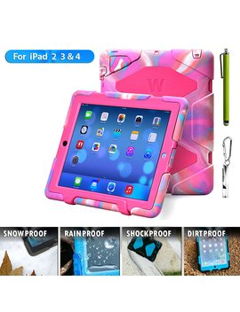 Kidspr Protective Case With Built In Screen Protector For Apple I Pad 2/3/4   Camouflage Pink by Kidspr