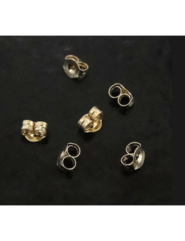 14 K Gold Ear Nuts   Friction Ear Nuts, Yellow, White, Or Rose Gold by Etsy
