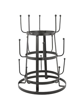 My Gift Vintage Rustic Gray Iron Mug / Cup / Glass Bottle Organizer Tree Drying Rack Stand by My Gift