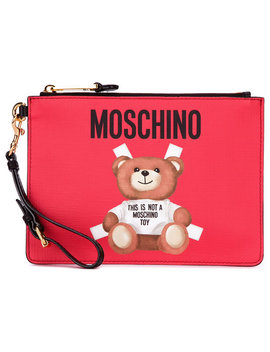 Toy Bear Paper Cut Out Clutch by Moschino