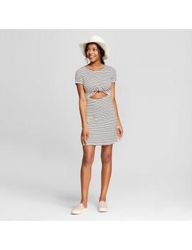 Women's Front Cut Out Striped Dress   Le Kate (Juniors') Blue by Le Kate