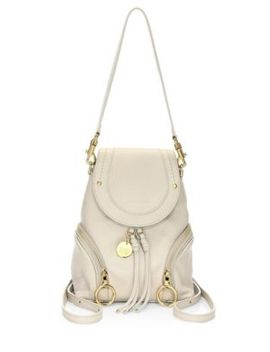 Olga Mini Leather Backpack by See By Chloé
