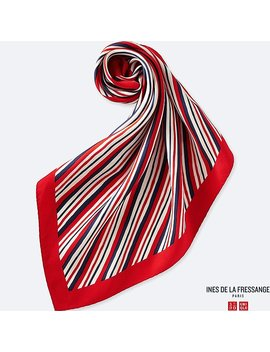 Women Idlf Silk Print Scarf by Uniqlo