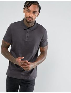 Asos Polo In Jersey In Black by Asos