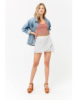 Eyelet Ruffle Skort by F21 Contemporary