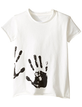 Hand Print Raw T Shirt (Infant/Toddler/Little Kids) by Nununu