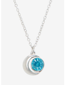 Blackheart March Birthstone Moon Necklace by Hot Topic