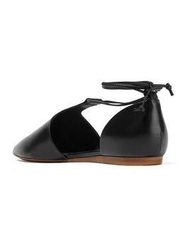 Noella Leather Point Toe Flats by Vince.