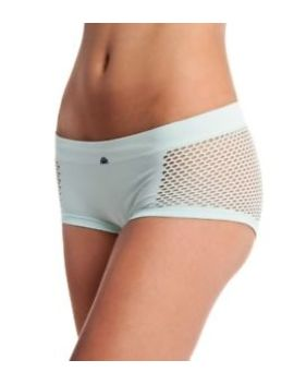 C&C California Seamless Mesh Boyshorts Angel Blue Sz. Large Nwt by C&C California