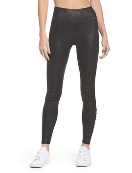 High Waist Moto Leggings by Hpe