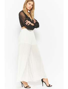 Semi Sheer Gauze Palazzo Pants by Forever 21