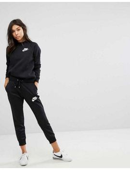 Nike Rally Crew Neck Sweatshirt & Track Pants In Black by Asos