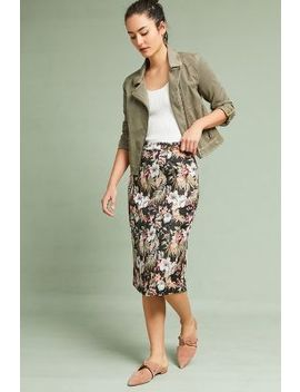 Jardin Jacquard Pencil Skirt by Isla Maude