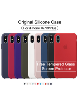 For I Phone X 7 8 Plus Genuine Original Silicone Shockproof Protective Case Cover by Unbranded/Generic