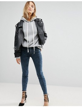 New Look Acid Wash Skinny Jean With Fray Hem by New Look