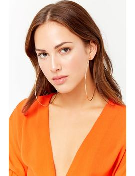Oversized Hoop Earrings by F21 Contemporary