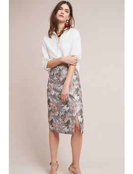 Clarissa Jacquard Pencil Skirt by Isla Maude