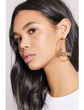 Femme Hoop Earrings by F21 Contemporary