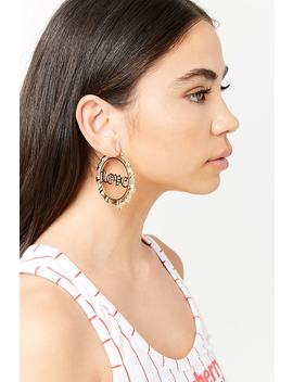 Love Bamboo Hoop Earrings by F21 Contemporary