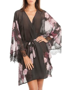 Flower Print Kimono Robe by Midnight Bakery